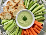Lemon garlic scape white bean dip