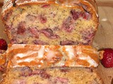 Lemon-glazed strawberry poppy seed bread