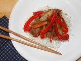 Mongolian beef and vegetable stir-fry