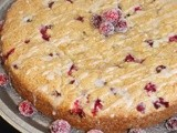 Orange-scented cranberry cake with sugared cranberries