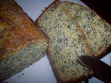 Orange-sour cream-poppy seed loaf cake