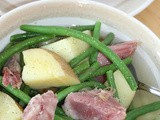 Pennsylvania Dutch ham, green beans, and potatoes