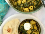 Potato and spinach curry