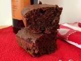Red wine & cherry dark chocolate chip brownies {#FoodBloggerLove}