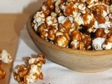 Salted caramel popcorn with peanuts