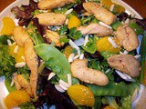 Sesame chicken and Mandarin orange salad
