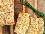 Sharp cheddar & chive quick bread