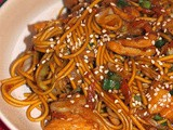 Sweet soy chicken and vegetable noodles