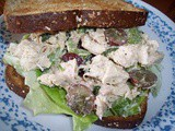 Tarragon and grape chicken salad