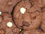 Triple chocolate chip chocolate cookies