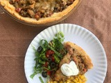 Turkey taco crescent pie
