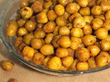 Turmeric and honey roasted chickpeas {and an Organic Turmeric giveaway}