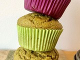 Whole wheat kale applesauce toddler muffins