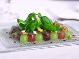 Spinach and Grape Salad with Blue Cheese Vinaigrette from Chef Scott Boswell