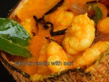 Kerala style Prawn and raw mango curry (Cheemmen manga curry)
