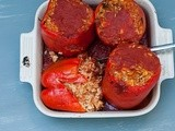 Chicken and Goat Cheese Stuffed Peppers
