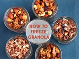 How to Freeze Granola