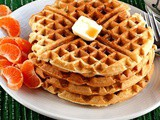 Orange Yogurt Waffles