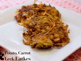 Potato, Carrot and Leek Latkes