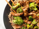 Slow Cooker Beef and Broccoli with Quinoa