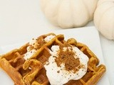 Whole Wheat Pumpkin Walnut Waffles