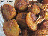 Arbi Roast or Seppankizhangu Roast