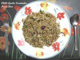 Chilli Garlic Coriander Fried Rice
