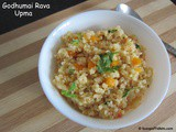 Godhumai Rava Upma or Cracked Wheat or Dalia Upma