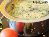 Lemon Rasam or Elumichai Rasam