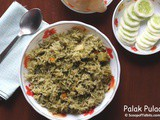 Palak Pulao or Spinach Pulao
