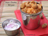 Soya Chunks Biryani or Nugget Biryani