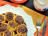 Pumpkin Cinnamon Chocolate Rolls (Yeast Free)