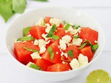 Basil, Watermelon and Feta Salad Recipe