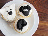 Black and White Animal Cupcakes
