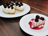 Black Cherry Cheesecake Topped with Kirsch Soaked Black Cherries