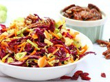 Brussel Sprout Coleslaw with Caramelised Pecans