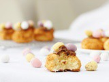 Coconut Macaroons Topped with Mini Eggs