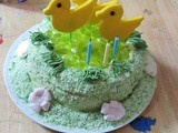 Duck Birthday Cake