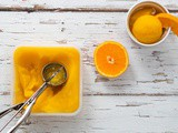 Ginger and Orange Sorbet in the Ice Cream Maker