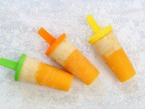 Peach and Banana Ice Lollipops