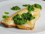 Sea Bass with a Simple Green Herb Salsa