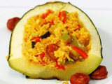 Spanish Rice Stuffed Marrow Recipe