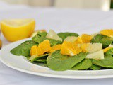 Spinach Citrus Salad with Grapefruit Vinaigrette