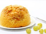 Steamed Gooseberry Pudding in the Slow Cooker