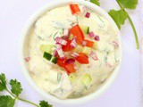 Tomato, Cucumber and Onion Raita