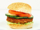 Zesty Lemon and Parsley Kidney Bean Burgers
