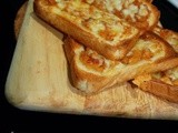 Cheese & apple on toast