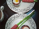 Crispy Asparagus soldiers with soft-boiled eggs