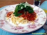 Spicy Chicken Cheese Linguine & Spinach