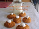Pumpkin Spice Cookies with Vanilla Bean Frosting